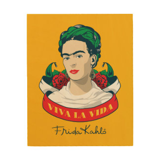 Frida Kahlo | Viva la Vida Wood Wall Art