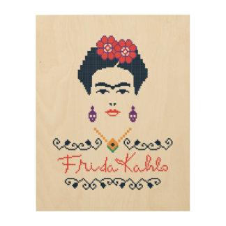 Frida Kahlo | Viva Mexico Wood Wall Art