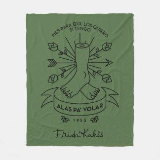 Frida Kahlo   Wings to Fly Fleece Blanket