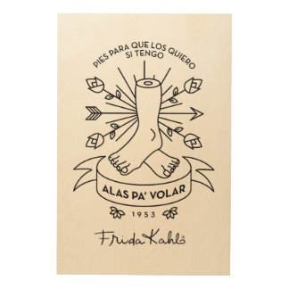 Frida Kahlo | Wings to Fly Wood Wall Decor