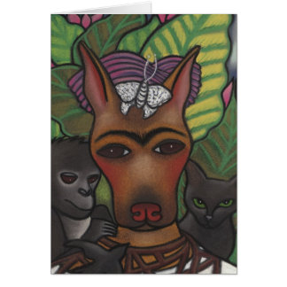 Frida Self Pawtrait 1940 Card