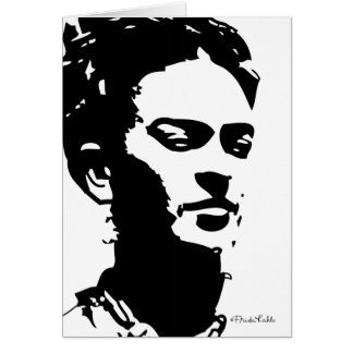 Frida Shadow Portrait Card