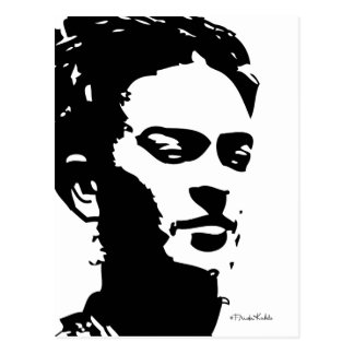 Frida Shadow Portrait Postcard