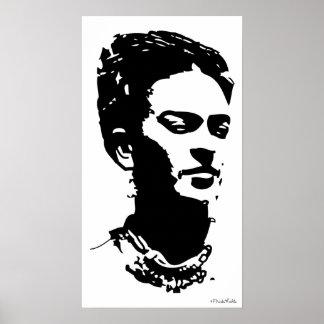 Frida Shadow Portrait Poster