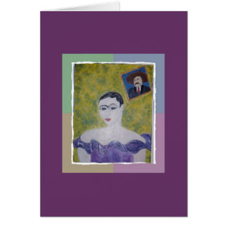 Frida's Purple Party dress Greeting Card