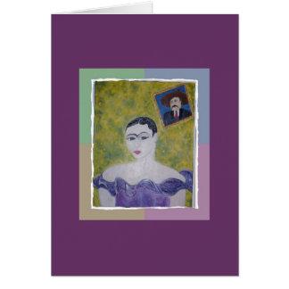 Frida's Purple Party dress Greeting Card