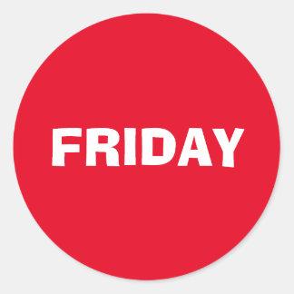 Friday Ad Lib Red Sticker by Janz