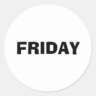 Friday Ad Lib White Sticker by Janz