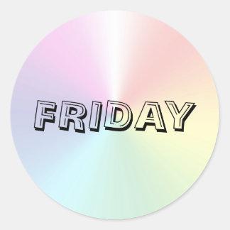Friday Alphabet Soup Shimmer Sticker by Janz