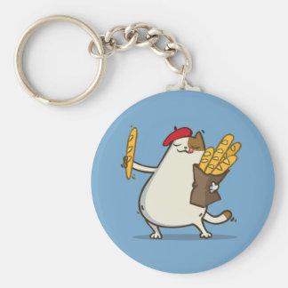Friday Cat №3 Basic Round Button Key Ring