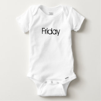 Friday cute baby one piece day of the week shirts