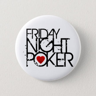 Friday Night Poker 6 Cm Round Badge