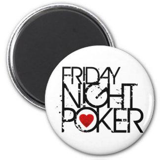 Friday Night Poker 6 Cm Round Magnet