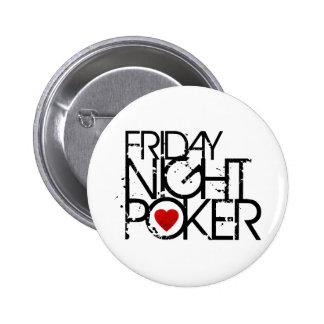 Friday Night Poker 6 Cm Round Badge
