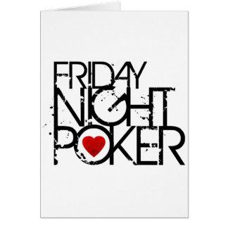 Friday Night Poker Greeting Card