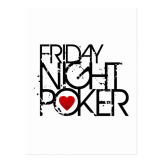 Friday Night Poker Postcard