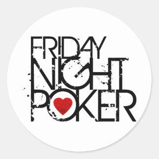 Friday Night Poker Sticker