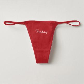 Friday Spandex Thong Underwear