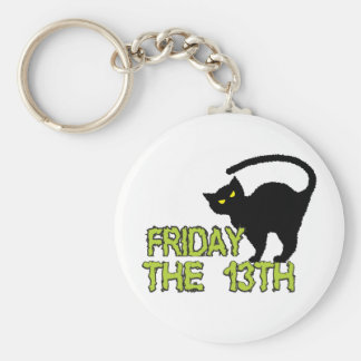 Friday The 13th - Bad Luck Day Superstition Basic Round Button Key Ring