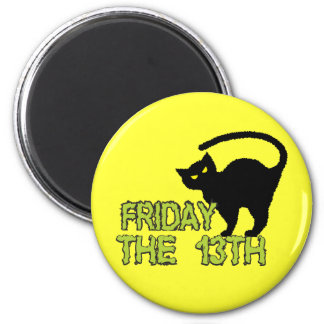 Friday The 13th - Bad Luck Day Superstition 6 Cm Round Magnet