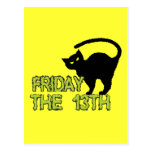 Friday The 13th - Bad Luck Day Superstition Post Card