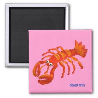 Fridge Art: John Dyer Red Lobster Magnet