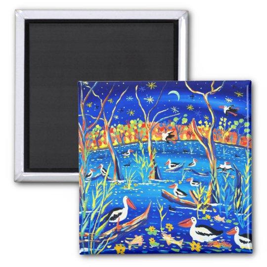 Fridge Art: Pelican Roost, Banrock Station Magnet