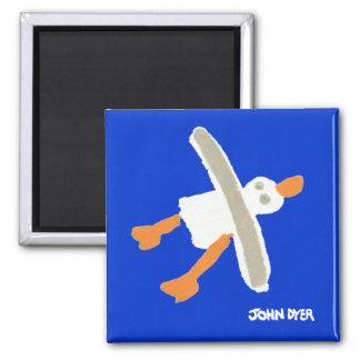 Fridge Art: Seagull Magnet