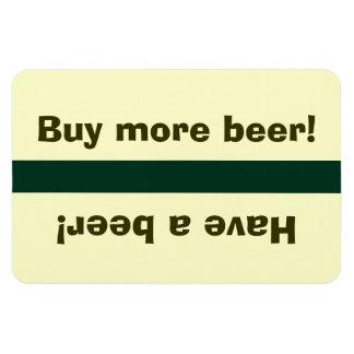 Fridge Beer Status - Have a beer, buy beer Rectangular Photo Magnet