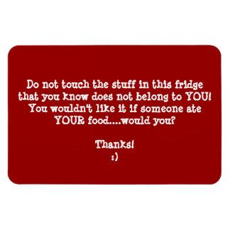 Fridge Food Thief Warning-Customize It. Rectangular Photo Magnet