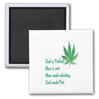 Fridge Magnet  God made Pot