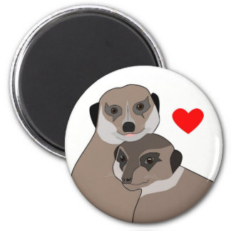 "Fridge-Magnet ""Meerkats in Love"" Magnet"