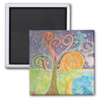 Fridge Magnet with Colourful Fantasy Landscape