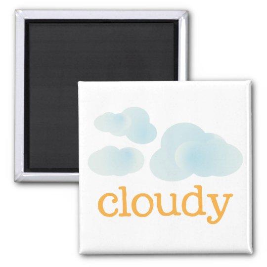 Fridge Weather - CLOUDY Magnet