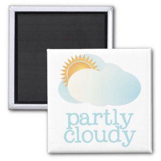 Fridge Weather - PARTLY CLOUDY Square Magnet