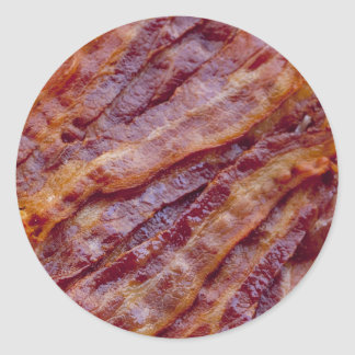 Fried bacon round sticker