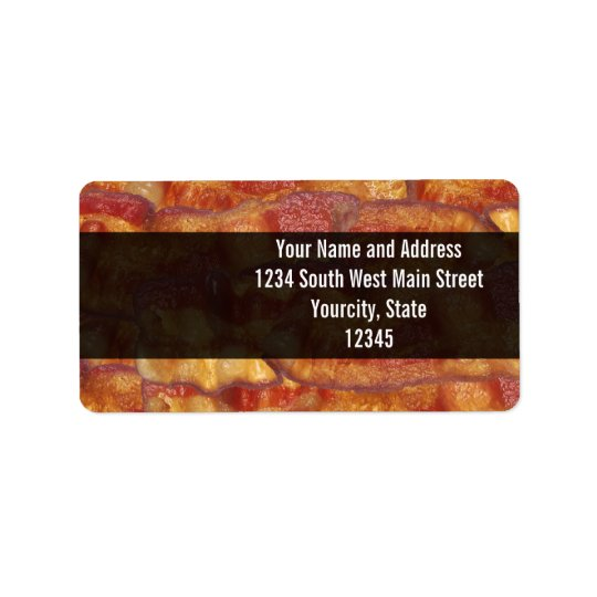 Fried Bacon Strip Address Label