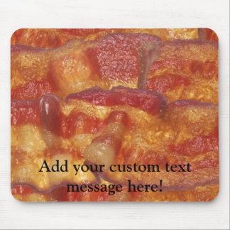 Fried Bacon Strip Mousepads