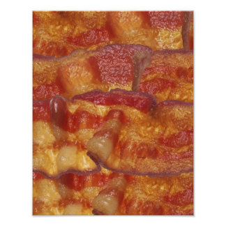 Fried Bacon Strip Poster