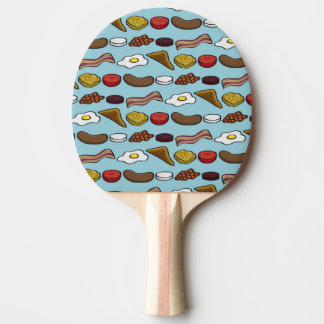 Fried Breakfast Ping Pong Paddle