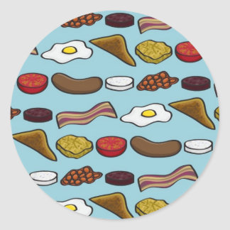 Fried Breakfast Round Sticker