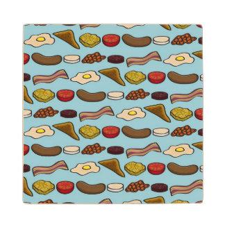 Fried Breakfast Wood Coaster