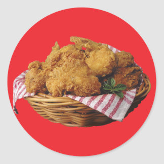 Fried Chicken Round Sticker