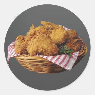 Fried Chicken Round Sticker