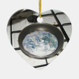 Fried Earth Ceramic Heart Decoration