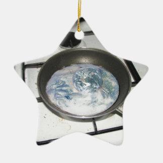 Fried Earth Christmas Ornament