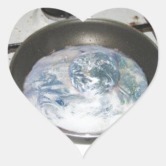Fried Earth Heart Sticker