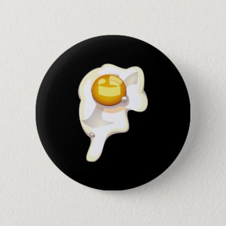 Fried Egg Black Button