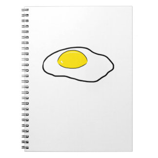 Fried Egg Cartoon Drawing Poached Eggs Sunny Side Notebook