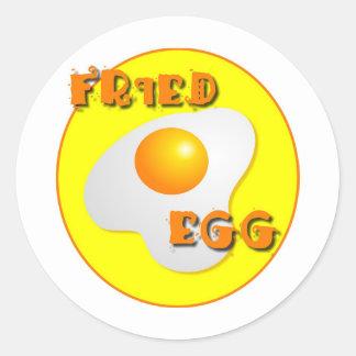 Fried Egg Classic Round Sticker